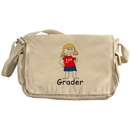 First Grade Girl Messenger Bag