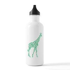 Kelly Green Polka Dot Giraffe Water Bottle