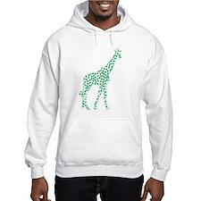 Kelly Green Polka Dot Giraffe Hoodie