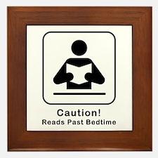 Reads Past Bedtime Framed Tile
