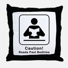Reads Past Bedtime Throw Pillow