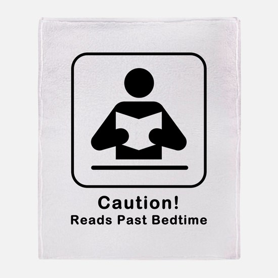 Reads Past Bedtime Throw Blanket