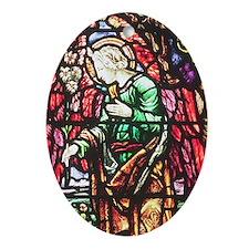 Annunciation Angel Oval Ornament