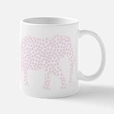 Light Pink Polka Dot Elephant Mug