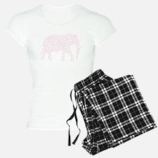 Light Pink Polka Dot Elephant Pajamas