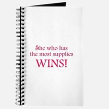 She Who Has the Most Supplies Journal