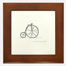 bicycle: how do you ride? Framed Tile