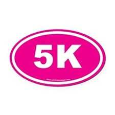 5K 3 Oval Car Magnet