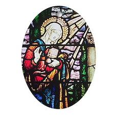 Annunciation Oval Ornament