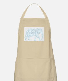 Light Blue Polka Dot Elephant Apron