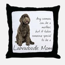 Labradoodle Mom Throw Pillow