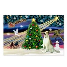 Xmas Magic/Borzoi Postcards (Package of 8)