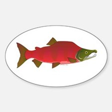 Sockeye Kokanee Salmon male f Decal