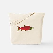 Sockeye Kokanee Salmon male f Tote Bag