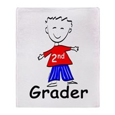 Second Grade Boys Throw Blanket