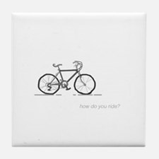 classic bicycle: how do you ride? Tile Coaster