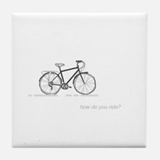 commuter bicycle: how do you ride? Tile Coaster