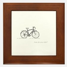 commuter bicycle: how do you ride? Framed Tile