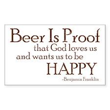 Beer Is Proof Rectangle Bumper Stickers