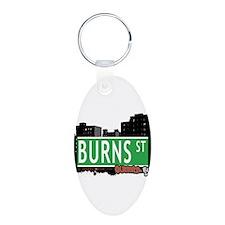 BURNS STREET, QUEENS, NYC Keychains