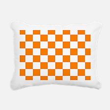 Orange and white checkerboard Rectangular Canvas P