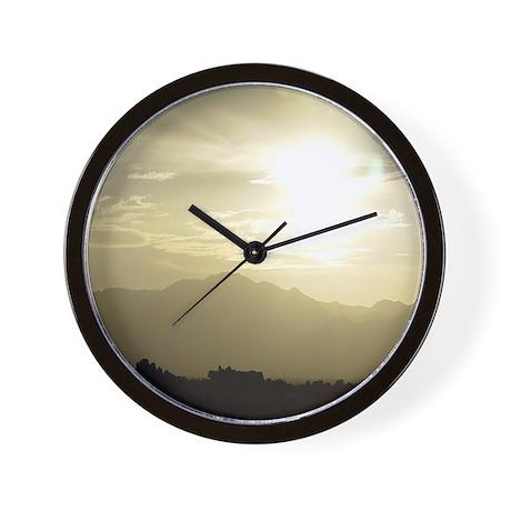 Ridgecrest Sunset- Ridgecrest, Ca Wall Clock