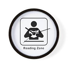 Reading Zone Wall Clock