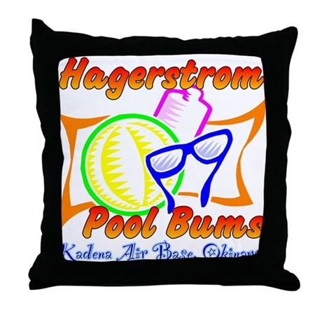 Hagerstrom Pool Bums Throw Pillow