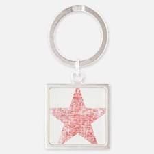 Faded Red Star Keychains