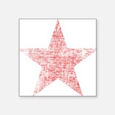 Faded Red Star Sticker