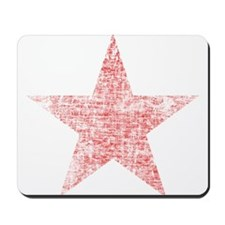 Faded Red Star Mousepad