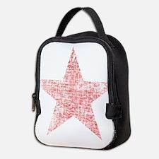 Faded Red Star Neoprene Lunch Bag