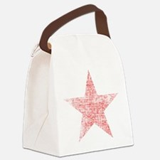 Faded Red Star Canvas Lunch Bag