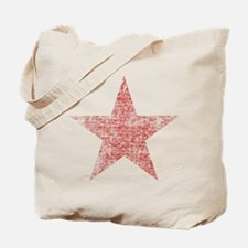Faded Red Star Tote Bag