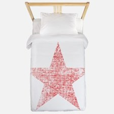 Faded Red Star Twin Duvet