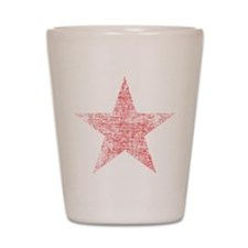 Faded Red Star Shot Glass