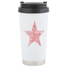 Faded Red Star Travel Mug
