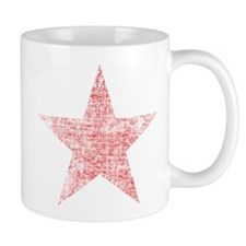Faded Red Star Mug