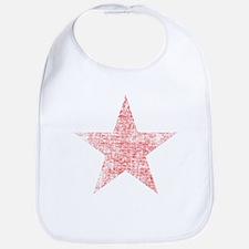 Faded Red Star Bib