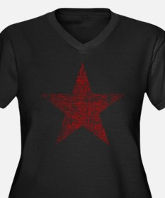 Faded Red Star Plus Size T-Shirt