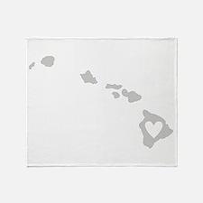 Heart Hawaii Throw Blanket