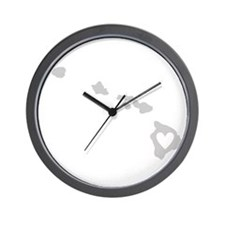 Heart Hawaii Wall Clock