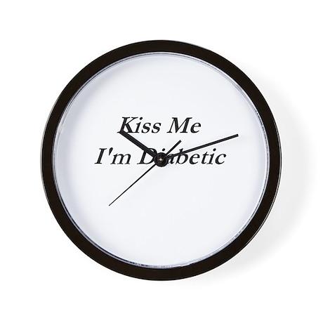 """Kiss Me I'm Diabetic"" Item Wall Clock"