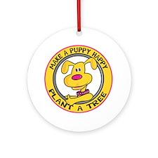 Make a Puppy Happy Ornament (Round)