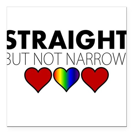 """STRAIGHT but not narrow Square Car Magnet 3"""" x 3"""""""