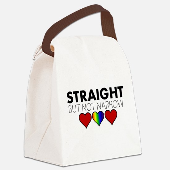 STRAIGHT but not narrow Canvas Lunch Bag