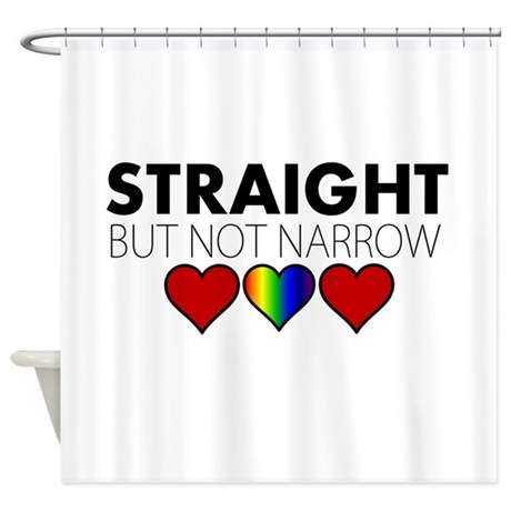 STRAIGHT But Not Narrow Shower Curtain By ItsSimplyLove