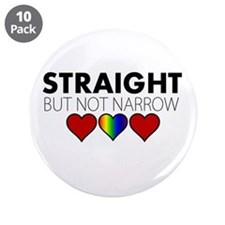 """STRAIGHT but not narrow 3.5"""" Button (10 pack)"""