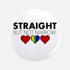 "STRAIGHT but not narrow 3.5"" Button (100 pack)"