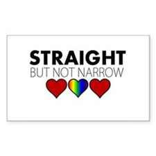 STRAIGHT but not narrow Decal